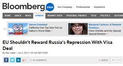 Bloomberg о плюсах и минусах визового соглашения между ЕС и Россией
