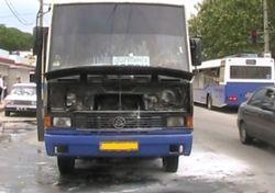В Херсоне на ходу вспыхнул рейсовый «Эталон» - последствия