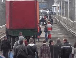транспортный мост стал пешеходным