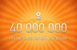 Одноклассники.ру: установлен рекорд в 40 млн. посетителей