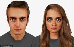 Художник отдела компьютеризированной геномики нарисовал лицо человека из будущего