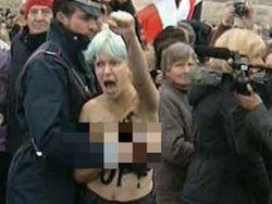 FEMEN не мог не обнажиться в Ватикане во время конклава