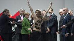 Эротика FEMEN в Ганновере и уголовное дело за стриптиз перед Путиным