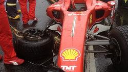 Попавший в аварию Ferrari