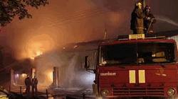 Пожар в психбольнице в Раменском