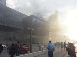 Пожар в медиа-центре в Астане
