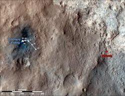 Curiosity прислал первые фото со сделанными отверстиями