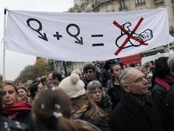 Французы против однополых браков