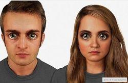 Темнокожие с огромными очами: ученые смоделировали потомков людей