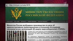 """Решение Минюста по НКО """"Голос"""""""