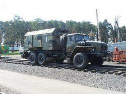 грузовик на рельсах