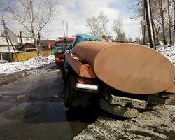 грузовик в яме