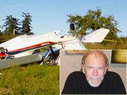 Известный писатель пострадал при столкновении самолета с ЛЭП