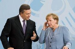 Янукович и Меркель