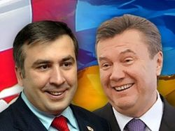 Саакашвили и Янукович