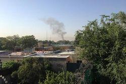 Дым в районе президентского дворца в Кабуле