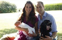 Первая фотосессия принца Джорджа с родителями и собаками