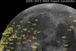 Луну протаранил самый большой в истории метеорит