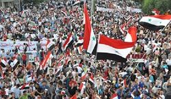 манифестации в Сирии