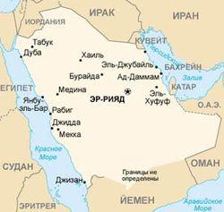 Саудовская Аравия на карте региона