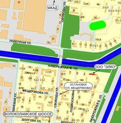 Малая Набережная на карте Москвы