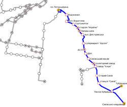 Схема 11-го маршрута троллейбуса