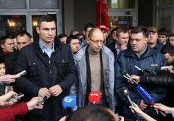 Яценюк, Кличко и Тягнибок возглавят воскресную акцию в Киеве