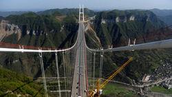 В Китае построен самый длинный в мире подвесной мост