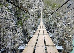 В Европе открылся самый высокий подвесной мост