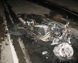 мотоциклист столкнулся с автобусом