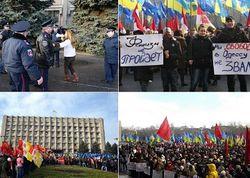 В Одессе митинговали против фашизма, не обошлось без скандалов