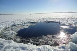 На дне озера Чебаркуль найдена вероятная воронка от падения метеорита