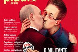 Бразильский Piaui поместил на обложку поцелуй Путина и Сноудена