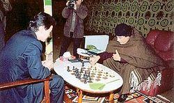 Лидер ФИДЕ поиграл в шахматы с Каддафи