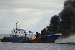 пожар на корабле