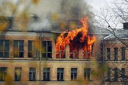 пожар в школе