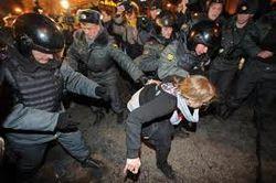 Сила против демонстрантов