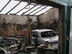 пожар в гаражах