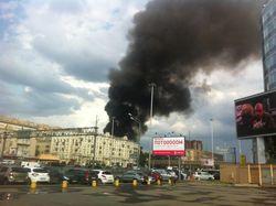 пожар в северной части Москвы.