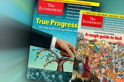 The Economist поместил на обложку карикатуру Путина в аду