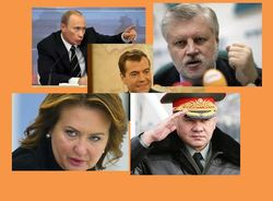 PR-рейтинг Биржевого лидера политиков России: Путин и Медведев – в лидерах