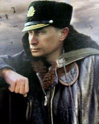 В. Путин во время инспекции флота