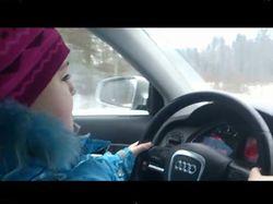 ТОП видео Петербурга: в 8 лет под 100 км./ч по заснеженной дороге