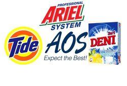 PR ТОП Яндекса ТМ стиральных порошков: Ariel популярнее Tide и AOS