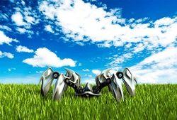 робот в поле