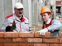 А. Лукашенко на субботнике
