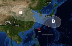 """Путь тайфуна """"Трами"""""""