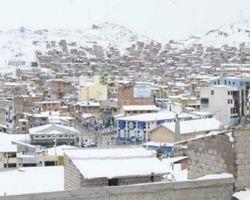 В Перу выпал несезонный снег