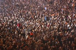 Ученые обнаружили, что движение посетителей концертов напоминает движение частиц газа