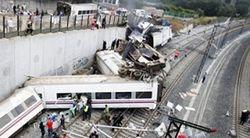 Железнодорожная авария в Испании: превышение скорости в 2,5 раза